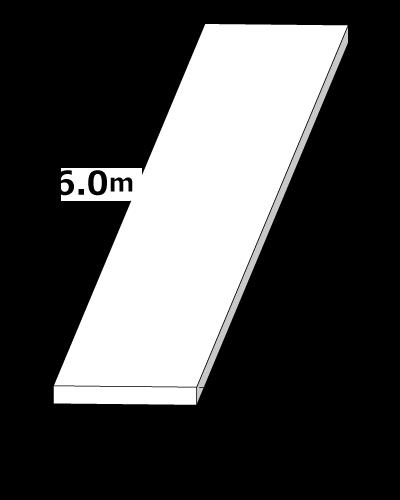 敷鉄板 1.5m x 6m x 22mm