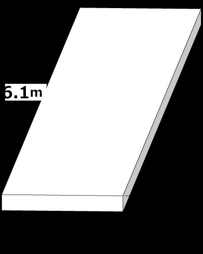 敷鉄板 2.1m x 6.1m x 44mm